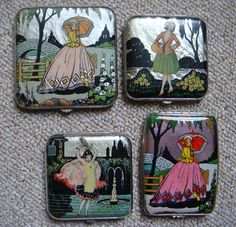 Some of my special 1920's powder compacts