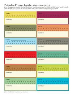 Free Printable Freezer Labels. 4 Designs to Choose From.: Simple Freezer Labels