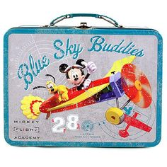 Mickey Mouse Tin Lunch Box [Airplane]$12.99