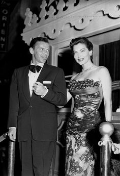 "Frank Sinatra and Ava Gardner. They were married in 1951 and divorced in 1957. Gardner admitted to two abortions during the marriage (a practice not unusual in the movie industry during that time period), allegedly saying that they ""couldn't even take care of [ourselves], how could [we] take care of a child?"" She chose to remain without children; Sinatra had already fathered his only three by the time they married."