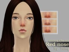 A cute red nose. Match with some skin using becomes is unable to see clearly.A total of three styles, one of them with a few freckles. Found in TSR Category 'Sims 4 Female Blush'