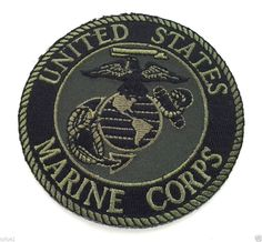 UNITED STATES MARINE CORPS  SUBDUED Military Veteran Biker Patch PM0894 EE