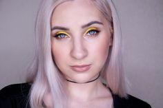 Макияж с желтыми тенями