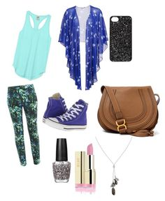"""""""7"""" by ilovemykitty123 ❤ liked on Polyvore featuring Gina Bacconi, Victoria's Secret PINK, Erdem, Converse, Marc by Marc Jacobs, Banana Republic, OPI and Chloé"""