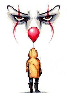 Kunst Zeichnungen - Pennywise drawing by Lera Kiryakova Fan Art t - Arte Horror, Horror Art, Art Du Croquis, Horror Drawing, Scary Clown Drawing, Fan Art, Easy Drawings, Dark Art Drawings, Pencil Drawings