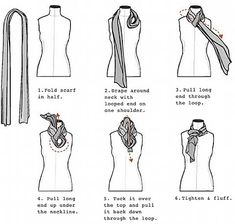 Women's Scarves How to Tie & Wear a Long & Square Scarf  2011  Pictures