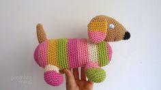 pontinhos meus: Salsicha rosa - Pink long dog
