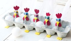 Looking for employment for children in the protected area? 3 tutorials on creation of egg carton - Easter Crafts Egg Carton Crafts, Egg Crafts, Easter Crafts, Diy And Crafts, Crafts For Kids, Easter Art, Easter Eggs, Easter Bunny, Spring Crafts