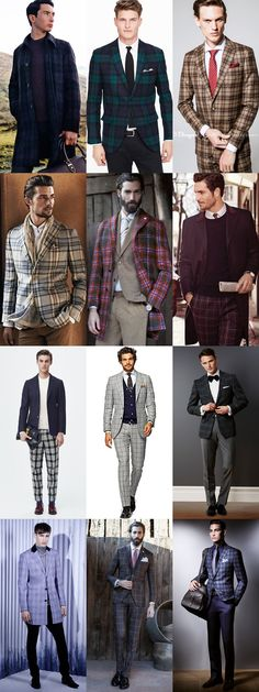 5 Key Men's 2015 Autumn/Winter Fashion Trends From London Collections: Key Print - Checks, Wear It Now Lookbook Inspiration