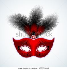 stock-vector-red-carnival-mask-with-feathers-150359405.jpg (450×470)