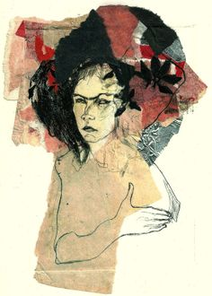 Original Chine collé Dry Point Etching woman with by uterathmann, €80.00