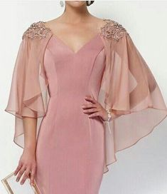Simple Dresses, Elegant Dresses, Beautiful Dresses, Formal Dresses, Chic Outfits, Dress Outfits, Fashion Dresses, Mother Of Bride Outfits, Sleeves Designs For Dresses