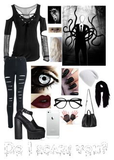 """Slender Man"" by unicorn-island ❤ liked on Polyvore"