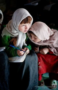 Students in a temporary government school -- Photo by Ellen Jaskol, Wakhan corridor, Sust, Afghanistan, 2011 We Are The World, People Around The World, Karakorum Highway, Beautiful Children, Beautiful People, Central Asia, Photos Du, World Cultures, Martial