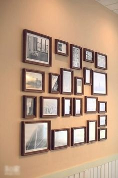I love walls full of pictures like this one