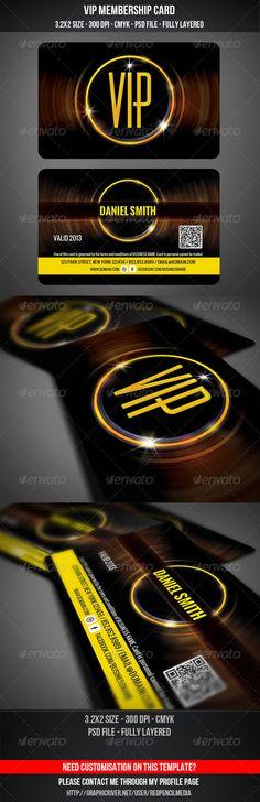 VIP Membership Card #dark #business Download : https://graphicriver.net/item/vip-membership-card/3362542?ref=pxcr