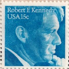 US postage stamp, 15 cent.  Robert F. Kennedy.  Issued 1979.  Scott catalog 1770.