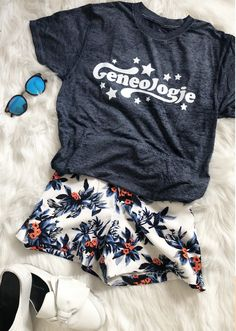 Geneologie   Custom Greek Tee   Bid Day   Recruitment   Stars   Delta Gamma   Delta Zeta   Alpha Phi   Zeta Tau Alpha   Alpha Omicron Pi Swag Outfits, Outfits For Teens, Cool Outfits, Fashion Outfits, Elegant Summer Outfits, Cute Spring Outfits, Vacation Outfits, Disney Outfits, Aesthetic Clothes