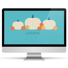 Dress up your desktop for fall with this adorable white pumpkin wallpaper. Also available for tablets and phones, including the iPhone 6 and 6 Plus. by Sarah Hearts Free Fall Wallpaper, October Wallpaper, Pumpkin Wallpaper, Free Desktop Wallpaper, Calendar Wallpaper, Wallpaper S, Desktop Calendar, Wallpaper Ideas, Iphone Wallpapers