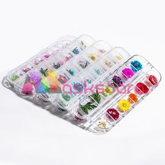 Can Be set with Maskscara's Gel-iT Builder Gel or Acrylic Systems. Dried Flowers, Packing, Nail Art, Bag Packaging, Flower Preservation, Nail Arts, Nail Art Designs, Dry Flowers