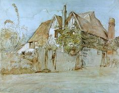 Ivy Cottage, Shoreham (w/c, gouache with pen & ink on paper) by Samuel Palmer