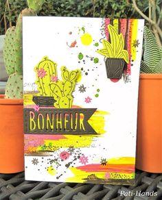 Une carte cactus pour le blog Scrap&Co d'après un lift de Gayatri MURALI (http://scrapawayg3.blogspot.fr/) J'ai utilisé mes nouveaux dies cactus de chez 4enscrap.