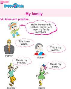 English Reading, English Writing Skills, Teaching English, English Grammar Worksheets, English Vocabulary Words, English Speaking Practice, Preschool Kindergarten, Happy Kids, Reading Comprehension