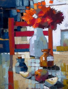 Jan Munro - Red Chair and Apples
