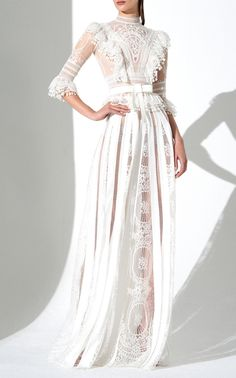 Super Ideas For Zuhair Murad Bridal Long Sleeve Wedding Dressses Products Haute Couture Gowns, Couture Wedding Gowns, Couture Dresses, Couture Fashion, Bridal Dresses, Fashion Dresses, Zuhair Murad Bridal, Wedding Dressses, Gowns With Sleeves
