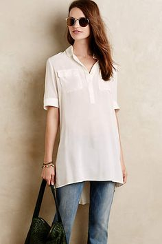 Annest High-Low Tunic - anthropologie.com