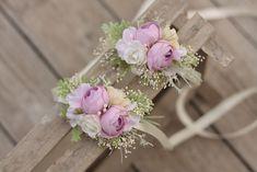 Bracelets – Flower bracelet wedding wrist corsage – a unique product by evafleur on DaWanda