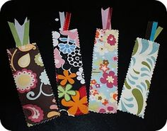 Bookmarks made from scrap fabric