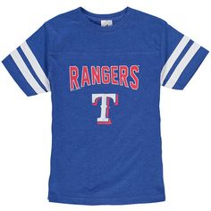 Texas Rangers Soft as a Grape Youth Shortstop T-Shirt - Royal - $16.99