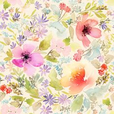 Seamless spring pattern. Watercolor painting. Well suited for th illustration