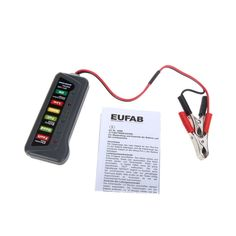 2017 12V Digital Battery Alternator Tester with 6-LED Lights Display Indicates Condition Diagnostic Tool Two Clips