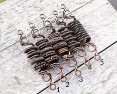 ONE Copper Bead Artisan Copper Dread Bead Oxidized Copper Etsy Loc Jewelry, Copper Jewelry, Beaded Jewelry, Handmade Jewelry, Copper Wire, Beaded Bracelets, Dreadlock Jewelry, Filigree Jewelry, Jewellery
