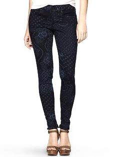 Gap 1969 printed legging jeans.  I need these ASAP!