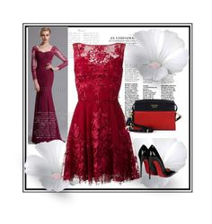 """""""Untitled #13"""" by anermehi ❤ liked on Polyvore featuring Zuhair Murad, Christian Louboutin and Prada"""