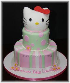kello kitty cakes | Hello Kitty Baby Shower Cake