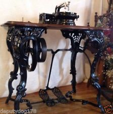 ANTIQUE FLORENCE FANCY LEG TREADLE SEWING MACHINE
