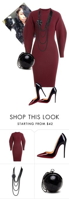 """""""Morning Manna!!"""" by cogic-fashion ❤ liked on Polyvore featuring Thierry Mugler, Christian Louboutin and Chanel"""