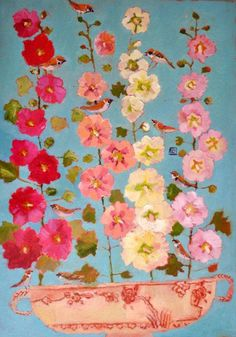 Vanessa Cooper, an artist from the UK, has a deep love of color & works principally in oils & gouache.