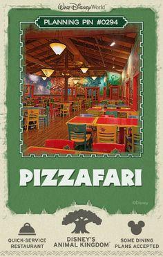 Walt Disney World Planning Pins: Pizzafari