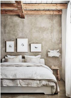 Dormitorio banqueta como mesilla