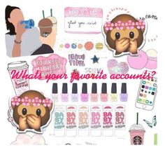 """"""" QOTD:Whats your favorite accounts  Answer In Comments!"""" by mickey733 ❤ liked on Polyvore featuring art"""