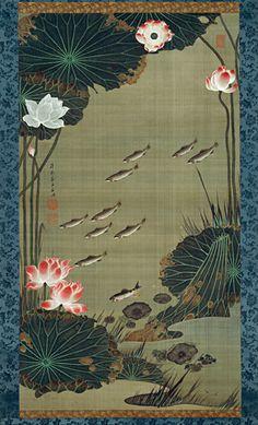 Lotus Pond and Fish - Ito Jakuchu, 1765