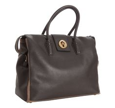 Yves Saint Laurent grey colorblock leather 'Muse Two Cabas' tote bag