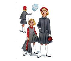Girls' Jacket  Blouse And Jumper Pleated Skirt by HoneymoonBus, $8.99