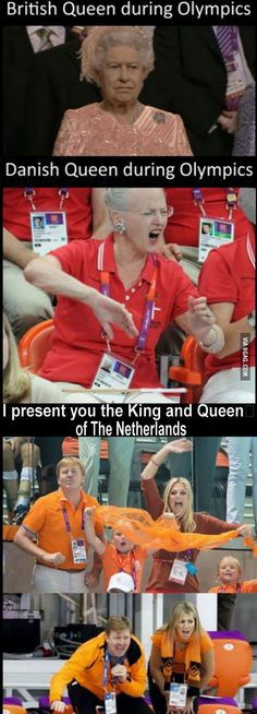 I present you the King and Queen of The Netherlands during the Olympics