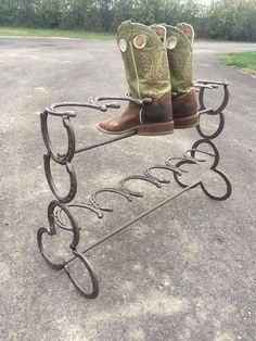 Hey, I found this really awesome Etsy listing at https://www.etsy.com/listing/224113632/horseshoe-boot-rack